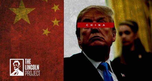 Een negatieve campagneadvertentie van het Lincoln Project, dat is opgezet door verontruste Republikeinen